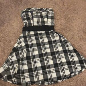 Plaid dress with * skull * detail